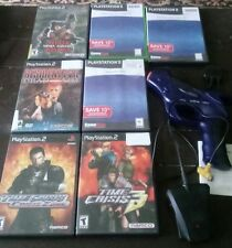 PlayStation 2 Pelican light gun Time Crisis Resident Evil Dino stalker lot
