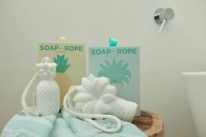 New SOAP ON A ROPE - PALM TREE & PINEAPPLE