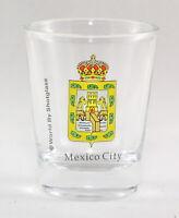 MEXICO CITY COAT OF ARMS SHOT GLASS SHOTGLASS