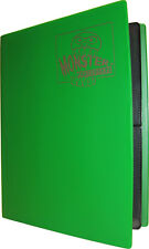 (1) BCW-MB-4P-MGN Green Trading Game Card Binder 4 Pocket Monster Protectors