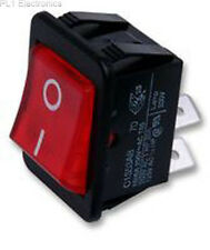 ARCOLECTRIC SWITCHES - C1353AB0/1RED - ROCKER SWITCH, DPST, ILLUM RED, I/O