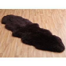 BROWN Genuine Authentic Real Australian SHEEPSKIN DOUBLE RUG