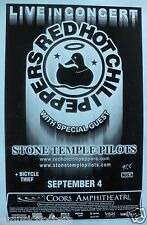 RED HOT CHILI PEPPERS / STONE TEMPLE PILOTS 2000 TOUR SAN DIEGO CONCERT POSTER