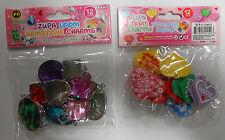 24 Zupa charms - Gemstones and Friendship Sayings, NIP!