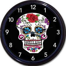 "Cavalera Skull Day Of The Dead Dia De Los Muertos Wall Clock Mexico art New 10"""