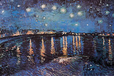 Vincent Van Gogh Starlight Over the Rhone Poster Apprx 24 x 36 Free US Shipping