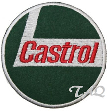 Castrol Embroidered Logo Crest Badge Iron /Sew On Patch SPORTS Racing OIL