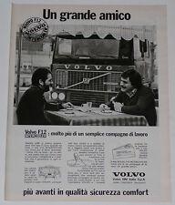Advert Pubblicità 1980 VOLVO CAMION F12 INTERCOOLER