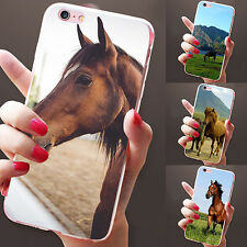 Backlight Horse and Man Print Case Cover for iPhone 5 6 7 Plus Samsung S7 Eyeful