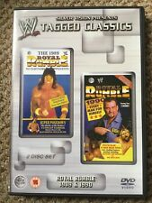 WWE Tagged Classics - Royal Rumble 1989 & 1990 DVD 1 & 2 Rare WWF