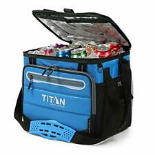 TITAN Blue Deep Freeze 40 Can Collapsible Cooler With Leak Proof Lining