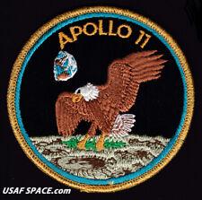 SCARCE APOLLO 11 AB Emblem - Green Moon - VINTAGE ORIGINAL NASA CLOTH BACK PATCH