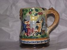 """Vintage Bright Colored Japan Majolica Style Mug Stein Cup 1920:s 5"""""""