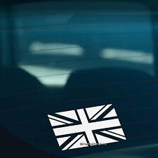 2x Mono Color Union Jack Bandera Par Coche, Furgoneta, parachoques, ventana Pegatinas de Vinilo Calcomanía