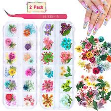 24 Colors Dry Flowers Mini Real Natural Flowers Nail Art Supplies 3D Applique...