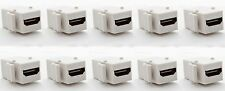 10 x HDMI Premium 4K HD 3D Keystone Gold Coupler Female Jack Joiner Adapter Lot