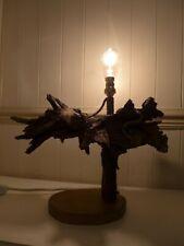WOODEN TABLE LAMP DRIFTWOOD BOG WOOD UNIQUE RUSTIC EDISON STYLE BULB INC.07-03