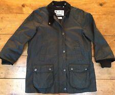 WOW Barbour Rain Bedale Spot Print Raincoat Jacket MSRP $479 Womens Size USA 8