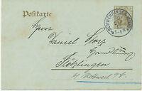 """DT.REICH """"SCHWENNINGEN (NECKAR)"""" (Villingen-Schwenningen) K1 3 Pf Germania 1912"""