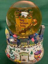 Bloomindales Big Brown Bag Musical Snow Globe, Detailed