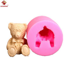 3D Teddy Bear Silicone Mould Fondant Cake Topper Modelling Tools Mold