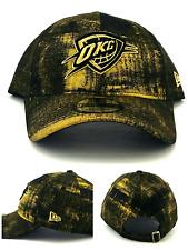 Oklahoma City Thunder OKC New Era 9Twenty Women Ladies Black Gold Luxe Hat Cap