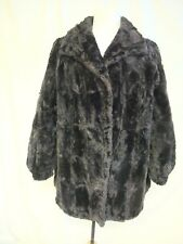 """Ladies Coat black short dense real fur, bust 40"""", length 31"""", for repair 0940"""