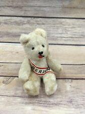 "Vintage Synthetic Plush Berlin Teddy Bear Sash Jointed 5"""