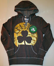 NWT NBA Boston Celtics Charcoal Full Court Foil V-Neck Pullover Hoodie Small NEW