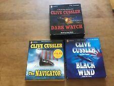 Clive Cussler CD Audio Books - Dark Watch/Black Wind/The Navigator