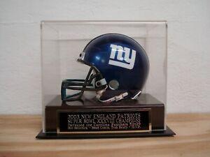 Super Bowl XXXVIII Football Mini Helmet Case W/ A New England Patriots Nameplate
