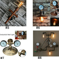 Industrial Wall Light Steampunk Retro Bronze Water Pipe Bar Lamp Sconces Vintage