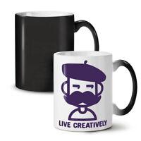 Live Creatively NEW Colour Changing Tea Coffee Mug 11 oz | Wellcoda