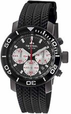 TW Steel TW704 Grandeur Rubber-Strap Chronograph 45 MM Watch