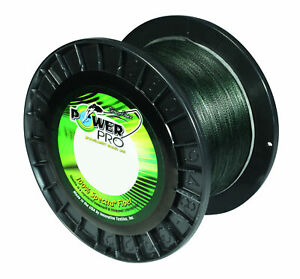 Power Pro Spectra Moss Green Braided Line Premium Stealthy Strong Fishing Line