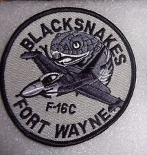 USAF FLIGHT SUIT PATCH, 122ND FIGHTER SQUADRON,IN ANG, F-16 C, GREY