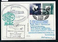 "81641) LH FF Frankfurt - Caracas 29.10.95, Kte SP ""DRESDEN"" SST Wasserflugzeug"