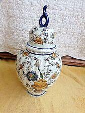 Grand vase floral-potiche-urne-céramique Belge/Hollande handswork 955-HB-vintage