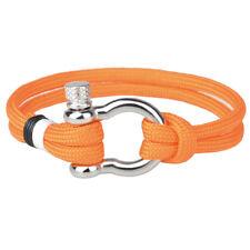 Unique Men's Stainless Steel U Shaped Buckle Paracord Rope Weave Wrist Bracelet