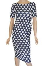 Polka Dot Stretch Regular Size Dresses for Women