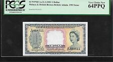 Malaya & British Borneo  1953  1 Dollar  PCGS 64 ppq graded UNC