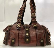 Authentic CHLOE Silverado Bordeaux Leather Shoulder Bag Handbag purse