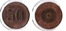 50 pf. O. Year Colonies: German South West Africa Hotel Z.PRINCE BISMARK