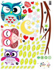 Owl Tree Cartoon Animal Wall Stickers for Kids Rooms Home Decor Decal New US
