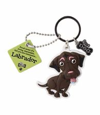 Wags & Whiskers Labrador Chocolate Brown Keyring 00204000025