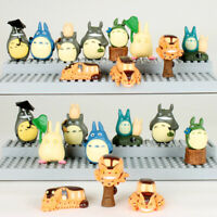 My Neighbor Totoro Toys 10 Pcs Mini Figures Set Chu Totoro Chibi Cat and More