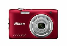 Nikon Digital Camera COOLPIX A100 Red 5x 20MP New Free Shipping