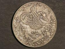 EGYPT 1911H (AH1327/Yr 3) 20 Qirsh Silver Crown VF