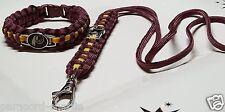 Washington Redskins Burgundy and Gold Paracord Bracelet and Lanyard Set