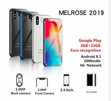 Smallest 4G LTE Smartphone Melrose 2019 Android 8.1 Google Play 2GB+32GB